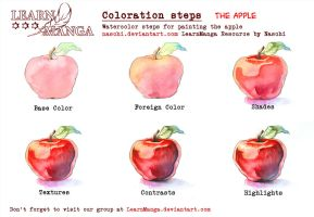 LearnManga Watercolorsteps Apple by Naschi