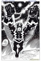BLACK BOLT Pin-Up JACK KIRBY/DOUG HAZLEWOOD by DRHazlewood