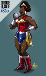 Michelle Carter / Wonder Woman by mase0ne