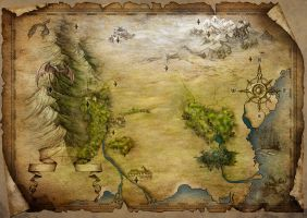 Fantasy map by adrianamusettidavila