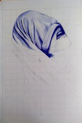 WIP1 - biro drawing by Flotter