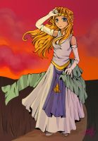 Sunset on Hyrule by surrealecho