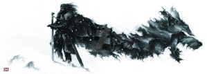 Game of Thrones - Winter Direwolf - Loup d'hiver by Kanthesis