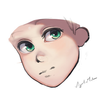 WIP Manga Boy Face by Torbak
