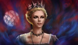 Charlize Theron as Evil Queen in color by MartaDeWinter