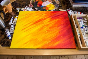 Acrylpainting - Flame of Love #1 by DrakebyRS