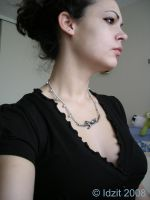 Birds on a branch necklace by Idzit