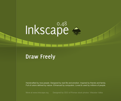 Inkscape 0.48 Splash Screen by nikdo-org