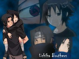 Uchiha Brothers wallpaper by Darkfire75