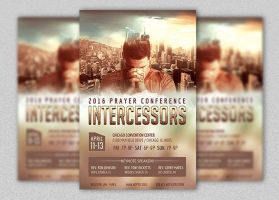 Prayer Conference Flyer and Poster Template by Godserv