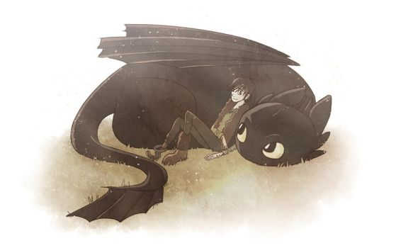 Hiccup and Toothless by TwilightSaphir