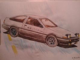 Toyota Corolla ae86 by vanVoltaire