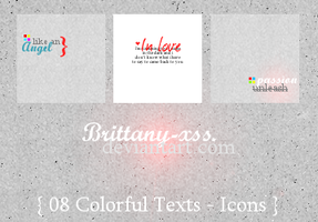 ITextures Set02 Colorful Texts by brittany-xss