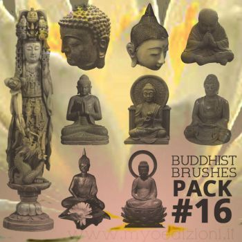 Photodhop Buddhist Brushes Pack#16 by lotus82