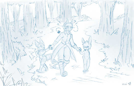 [Colab Sketch] Through the Woods by Uluri