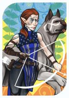 Dragon Age Tarot the Strength by dreNerd