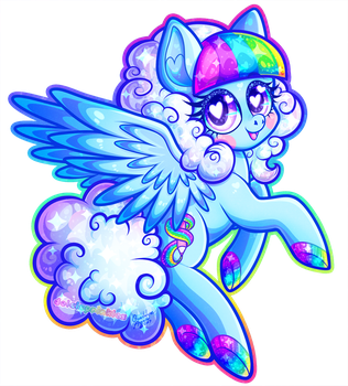 AT: Rainbow Moon by Dolcisprinkles
