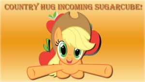 Wallpaper Applejack Country HUG incoming! by Barrfind