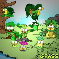 9 grass starters in one by c4tman