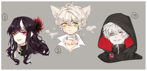 Headshot Adopts Auction [closed ty!!] by yhviia-adopts