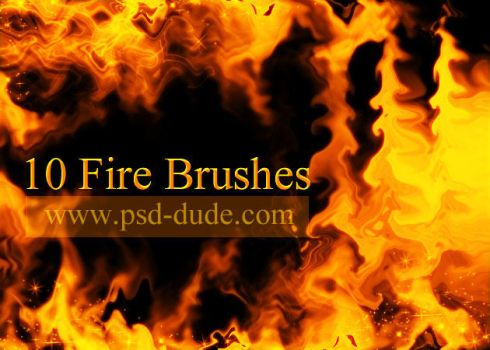 Fire Brushes by PsdDude