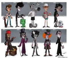 Actor Evolution_Johnny Depp by JeffVictor