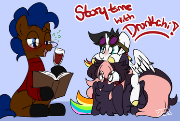 Story Time with Drunkchi by SilverKnight27