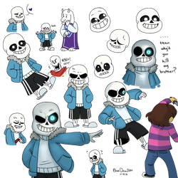 Sans (spoilers?) by BlueOrca2000