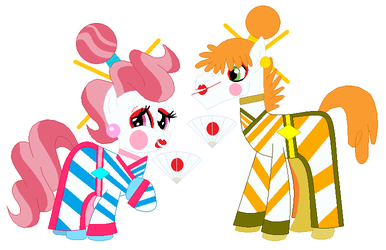 Mr. And Mrs. Cake As Geishas by Hubfanlover678