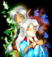 Laeril Nobles Tathfryn and Neydelene Auvryarn by MagickDream