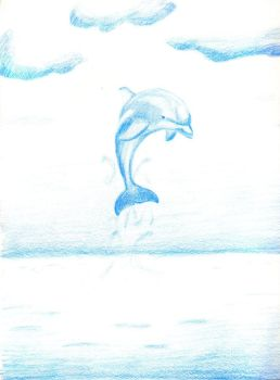 One little dolphin by Fring