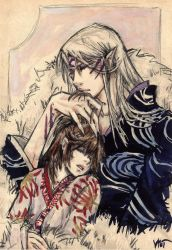 Rin and Sessh_ sweet nothing by Milwa-cz