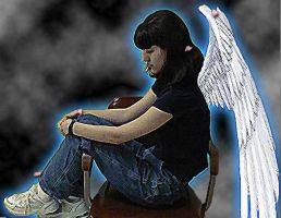 With Wings of An Angel 1 by sfallen
