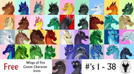 Free to Use H-A-D Icons #'s 1 - 38 by xTheDragonRebornx