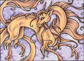 ACEO Trade: Golden One by Agaave