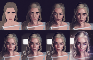 PROCESS: Khaleesi by SandraWinther