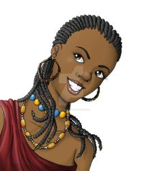 African Girl by caiojhonson