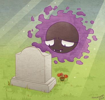 Graveyard Gastly by musogato