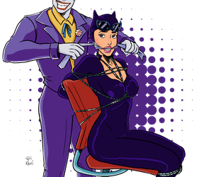 Catwoman And Joker by keely-Key