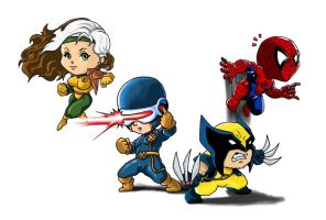 Chibi Marvel Heroes Part 1 by Choppic