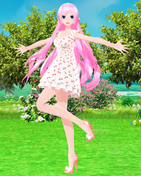 [MMD DL] TDA + WYKP Cherry Dress Luka by Mario-and-Sonic-Guy