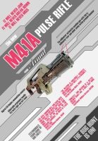 M41A Pulse Rifle from Aliens by nuke-vizard