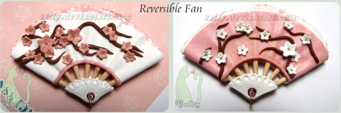 Polymer Clay Reversible Fan by Talty