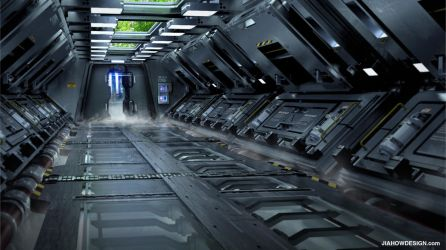SPACESHIP INTERIOR_ENERGY ROOM ENTRANCE by Jiahow
