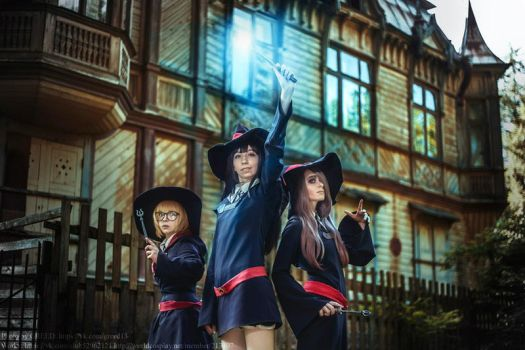 Little Witch Academia: Lotte, Akko, Sucy by AmaneMiss