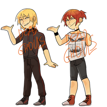 -SOLD- HUMANOID TWIN ADOPTS $10 (1/1 CLOSED) by deadghouls