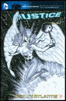 Hawkgirl cover by MichaelDooney