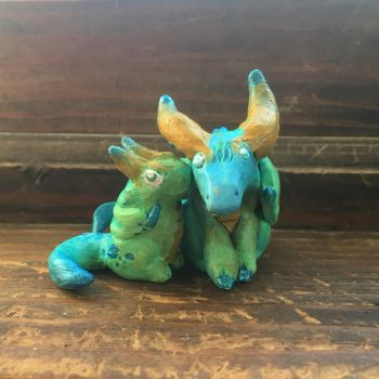 Dragon Brothers 1 (for sale) by JcArtSpace