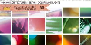 Icon Textures Set 01 - Colors and Lights by colorfilter