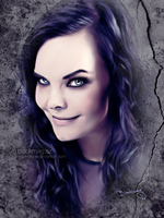 Anette Olzon Painting by perlaque